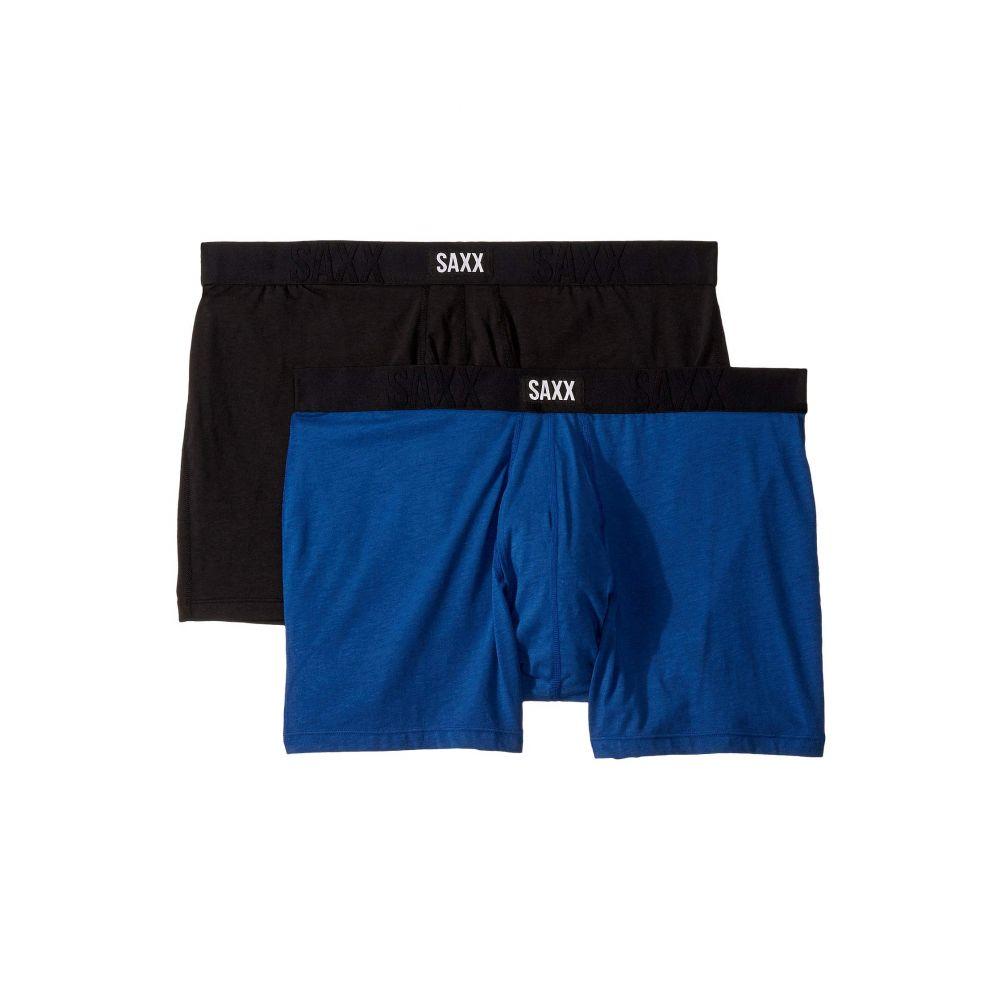 サックス SAXX UNDERWEAR メンズ ボクサーパンツ 2点セット インナー・下着【Undercover Boxer Brief Fly 2-Pack】Black/City Blue