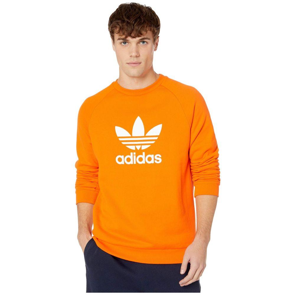 アディダス adidas Originals メンズ スウェット・トレーナー トップス【Trefoil Crew Sweatshirt】Orange