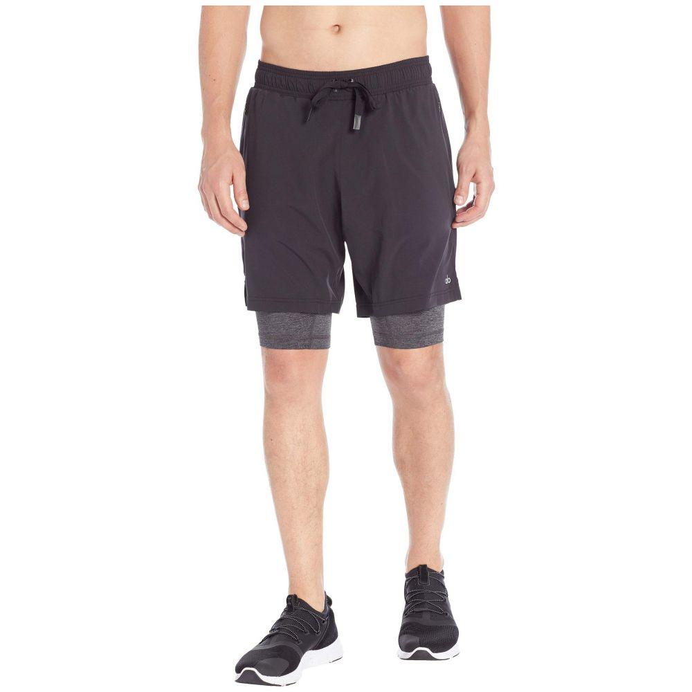 アロー ALO メンズ ショートパンツ ボトムス・パンツ【Unity 2-in-1 Shorts】Black/Dark Grey Marl