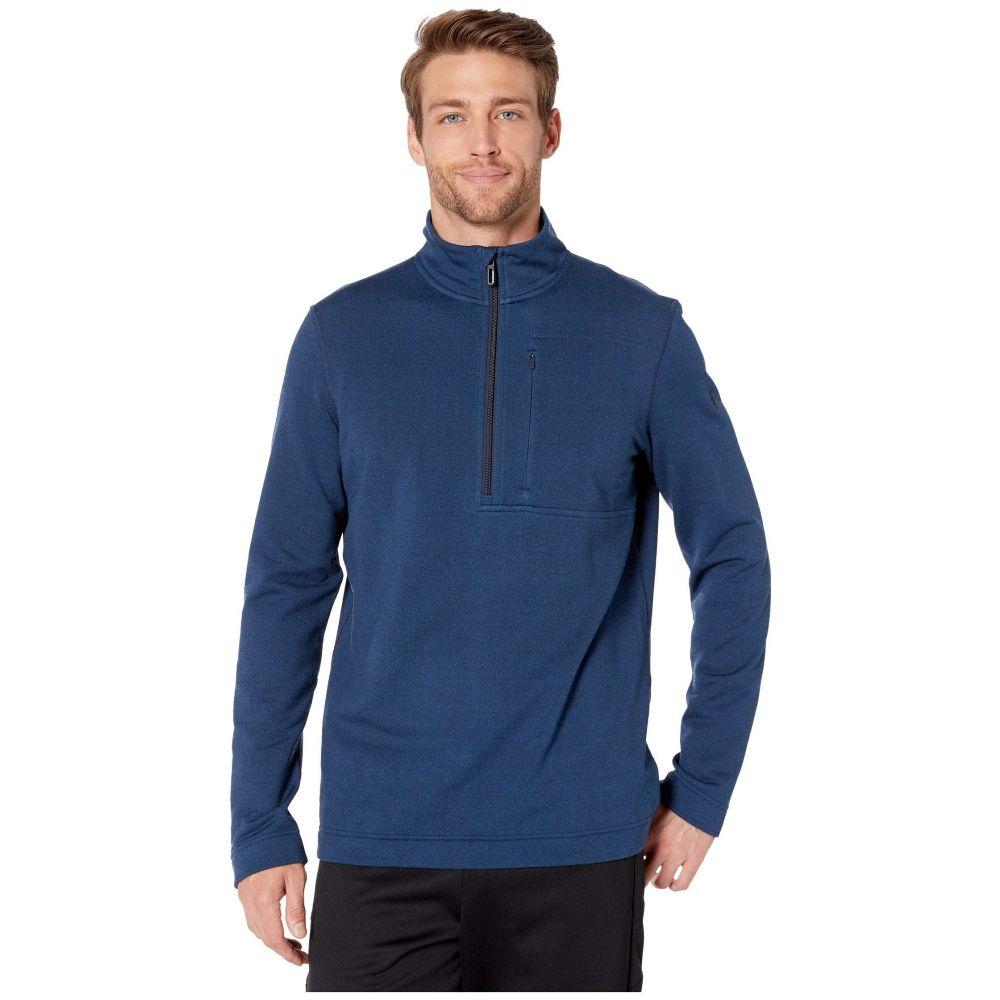 スマートウール Smartwool メンズ フリース ハーフジップ トップス【Merino Sport Fleece 1/2 Zip】Alpine Blue Heather