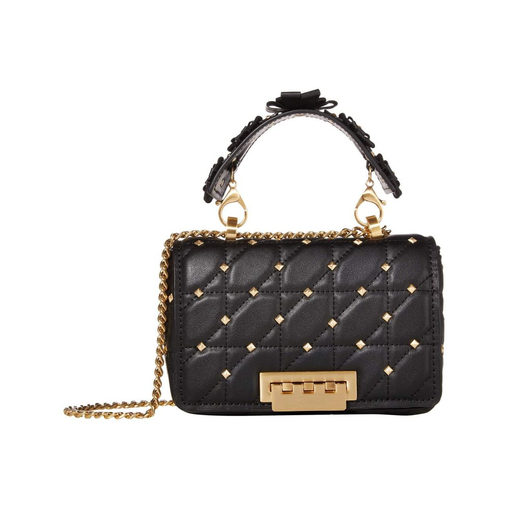 ザック ポーゼン ZAC Zac Posen レディース ショルダーバッグ バッグ【Earthette Small Soft Chain Shoulder - Solid Studded】Black