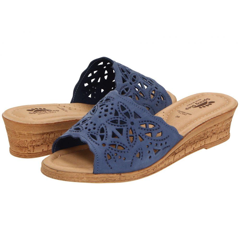 スプリングステップ Spring Step レディース ヒール シューズ・靴【Estella】Blue
