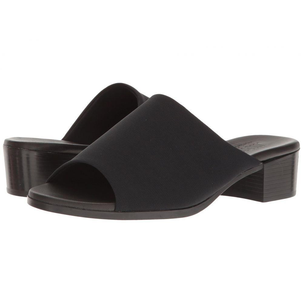 マンロー Munro レディース ヒール シューズ・靴【Beth】Black Stretch Fabric