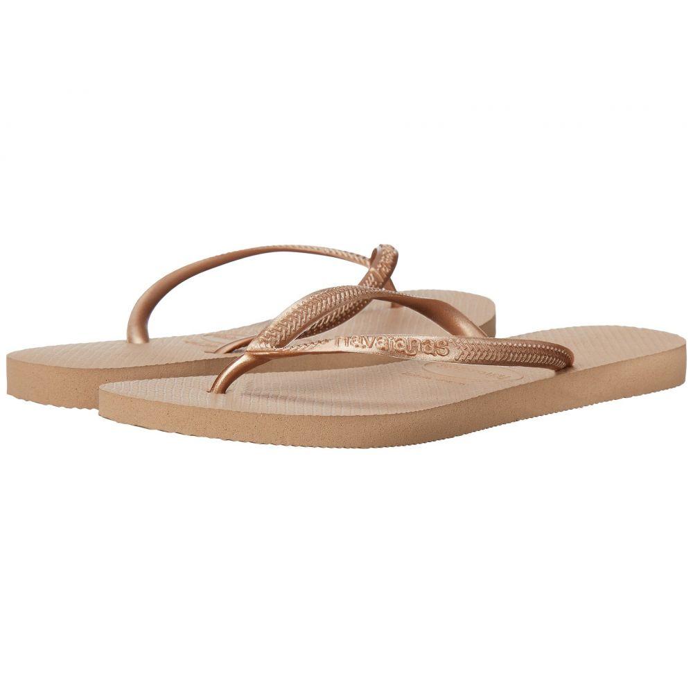 ハワイアナス Havaianas レディース ビーチサンダル シューズ・靴【Slim Flip Flops】Rose Gold