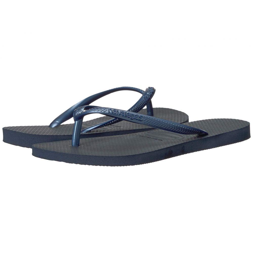 ハワイアナス Havaianas レディース ビーチサンダル シューズ・靴【Slim Flip Flops】Navy