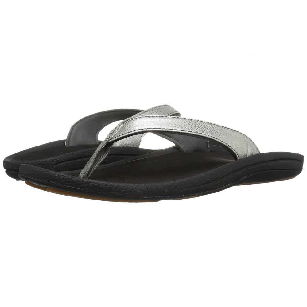 オルカイ OluKai レディース ビーチサンダル シューズ・靴【Kulapa Kai】Silver/Black
