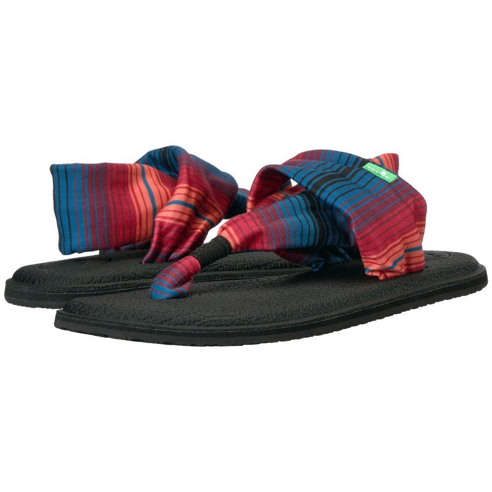 サヌーク Sanuk レディース サンダル・ミュール シューズ・靴【Yoga Sling 2 Prints】Black Multi Fade
