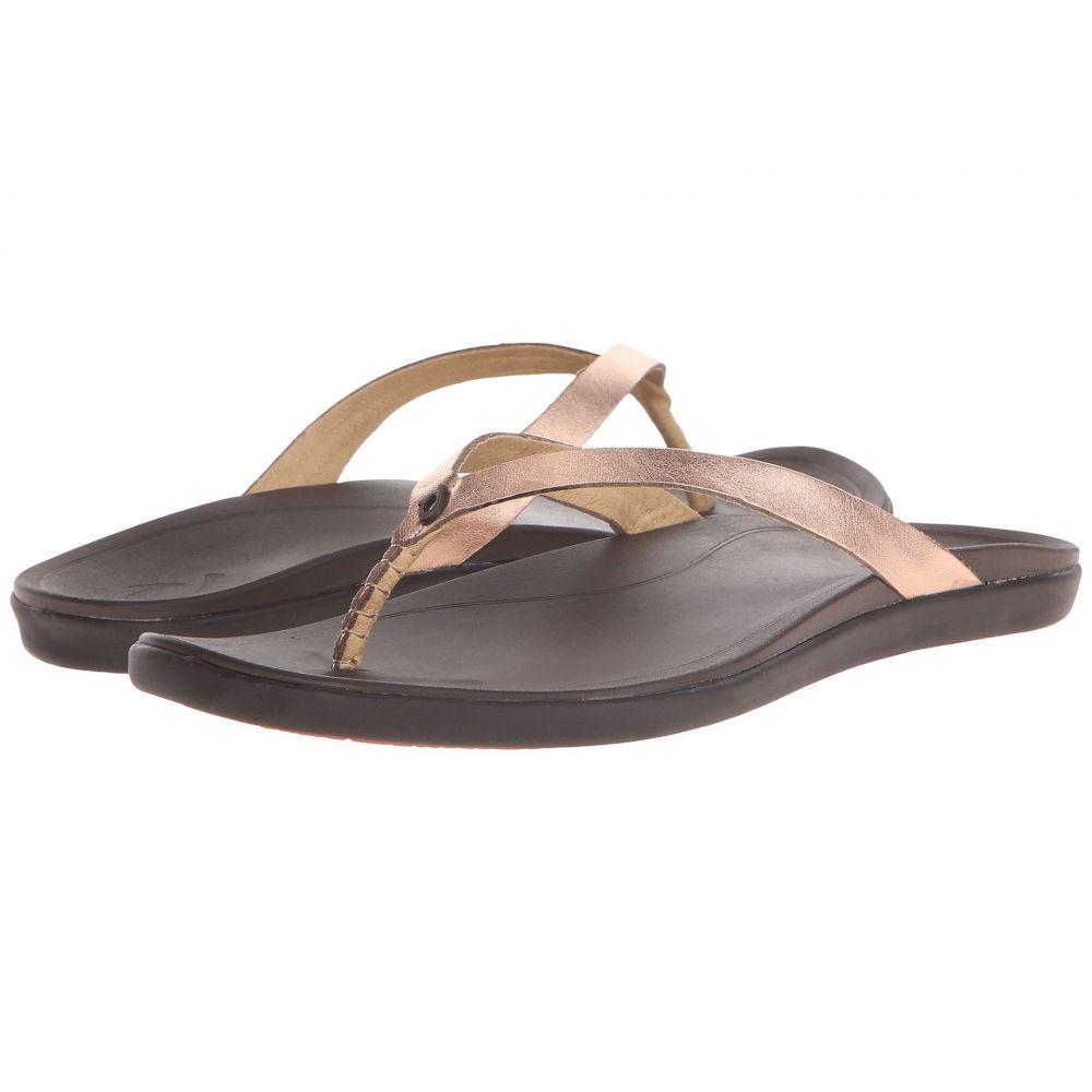 オルカイ OluKai レディース ビーチサンダル シューズ・靴【Ho'opio Leather】Copper/Dark Java