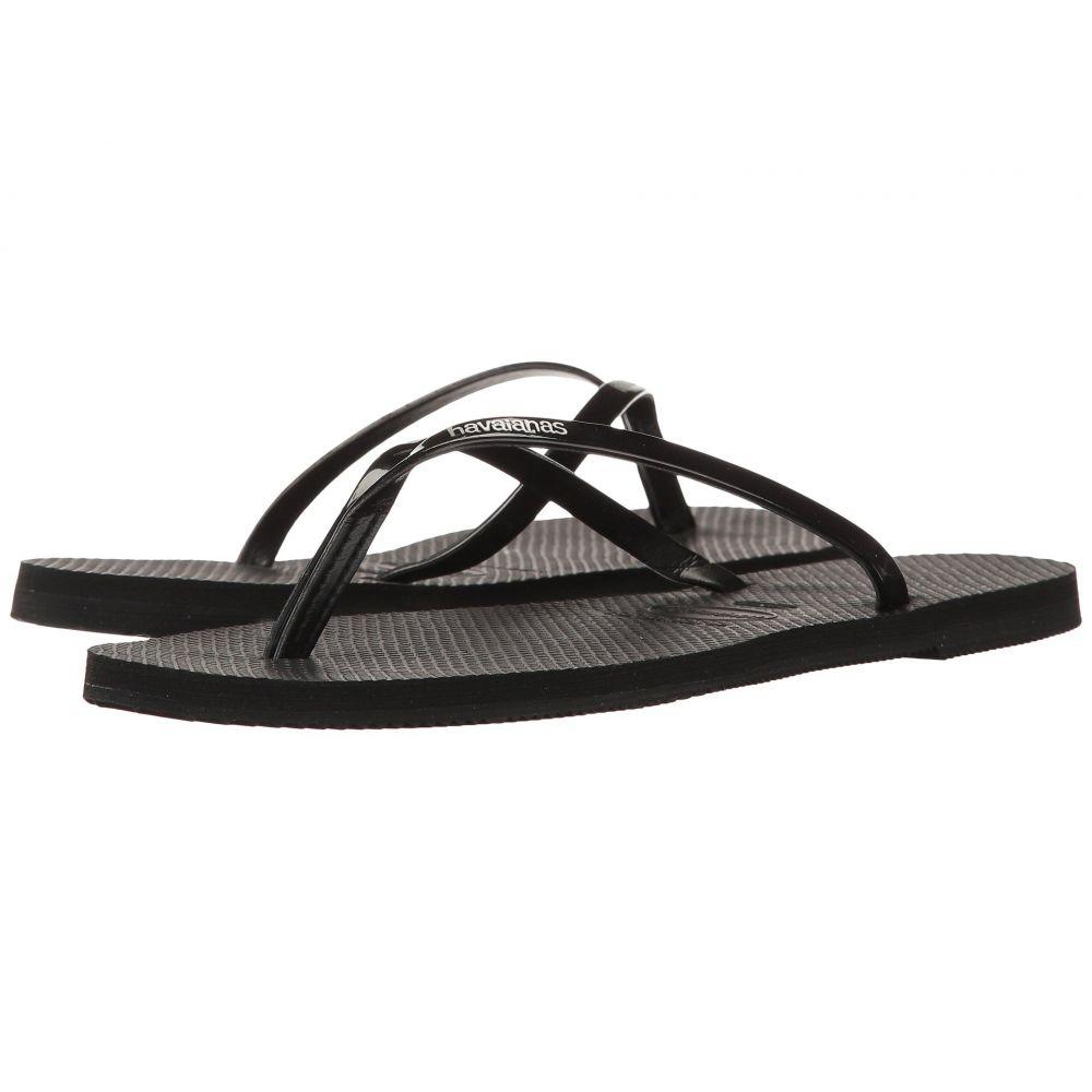 ハワイアナス Havaianas レディース ビーチサンダル シューズ・靴【You Metallic Flip Flops】Black