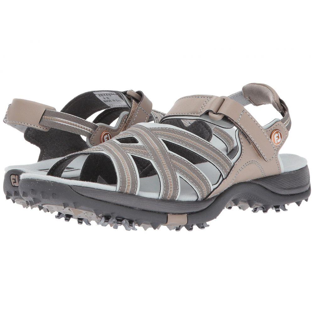 フットジョイ FootJoy レディース サンダル・ミュール シューズ・靴【Golf Specialty】Tan/Light Grey Sandal