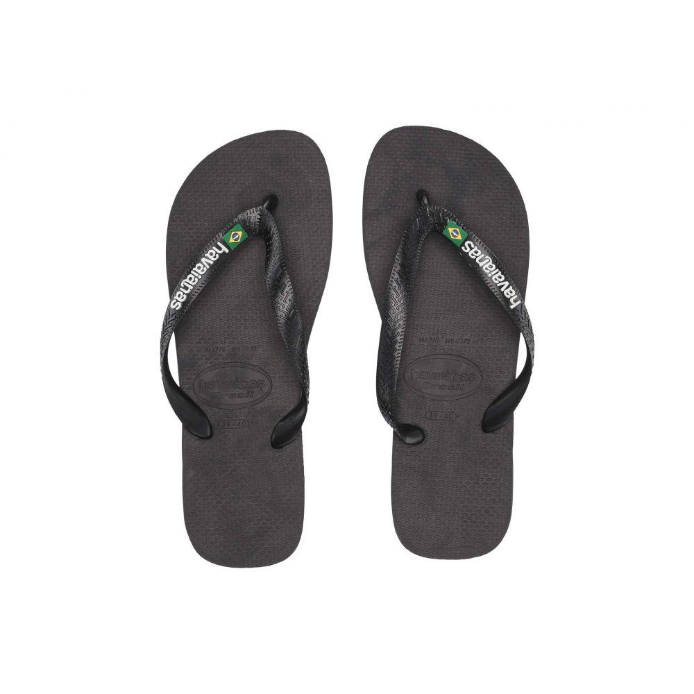 ハワイアナス Havaianas レディース ビーチサンダル シューズ・靴【Brasil Logo Flip Flops】Black/Black