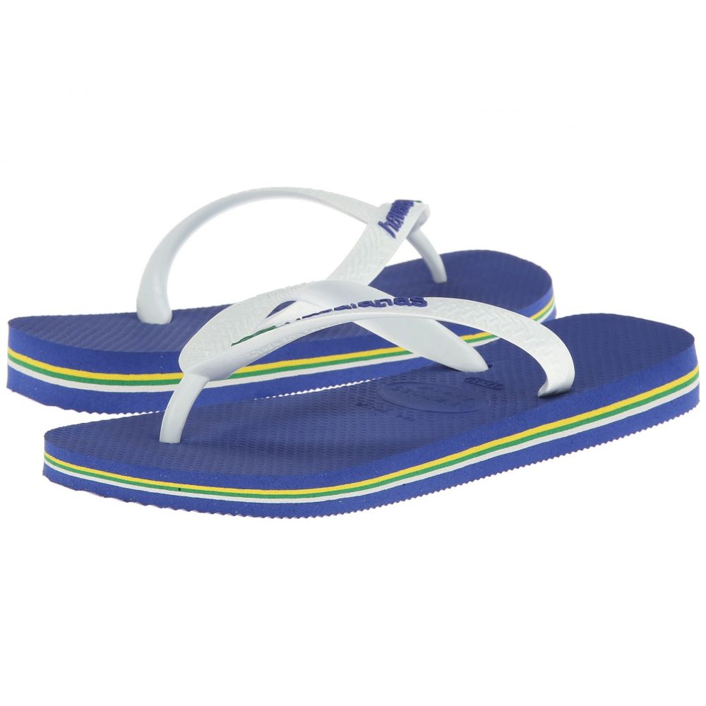 ハワイアナス Havaianas レディース ビーチサンダル シューズ・靴【Brasil Logo Flip Flops】Marine Blue