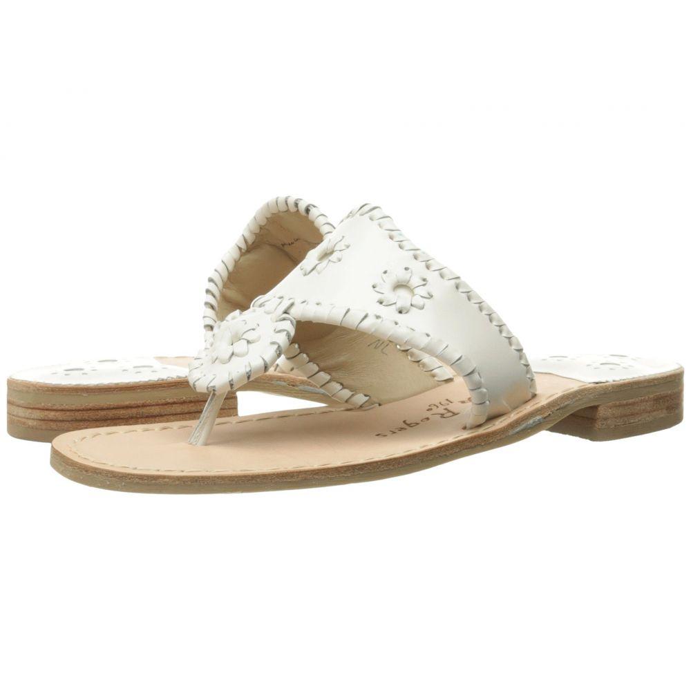 ジャックロジャース Jack Rogers レディース ビーチサンダル フラット シューズ・靴【Jacks Flat Sandal】White
