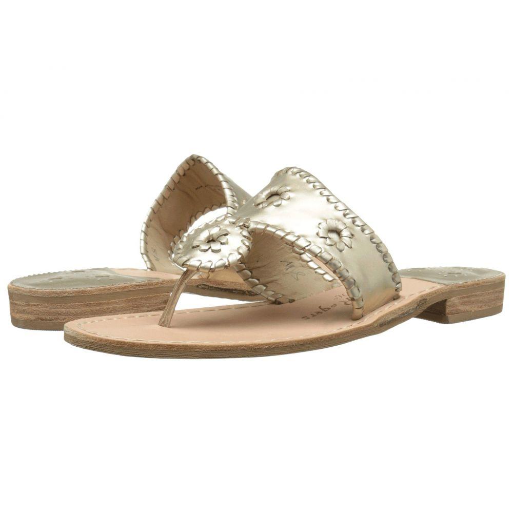 ジャックロジャース Jack Rogers レディース ビーチサンダル フラット シューズ・靴【Jacks Flat Sandal】Platinum