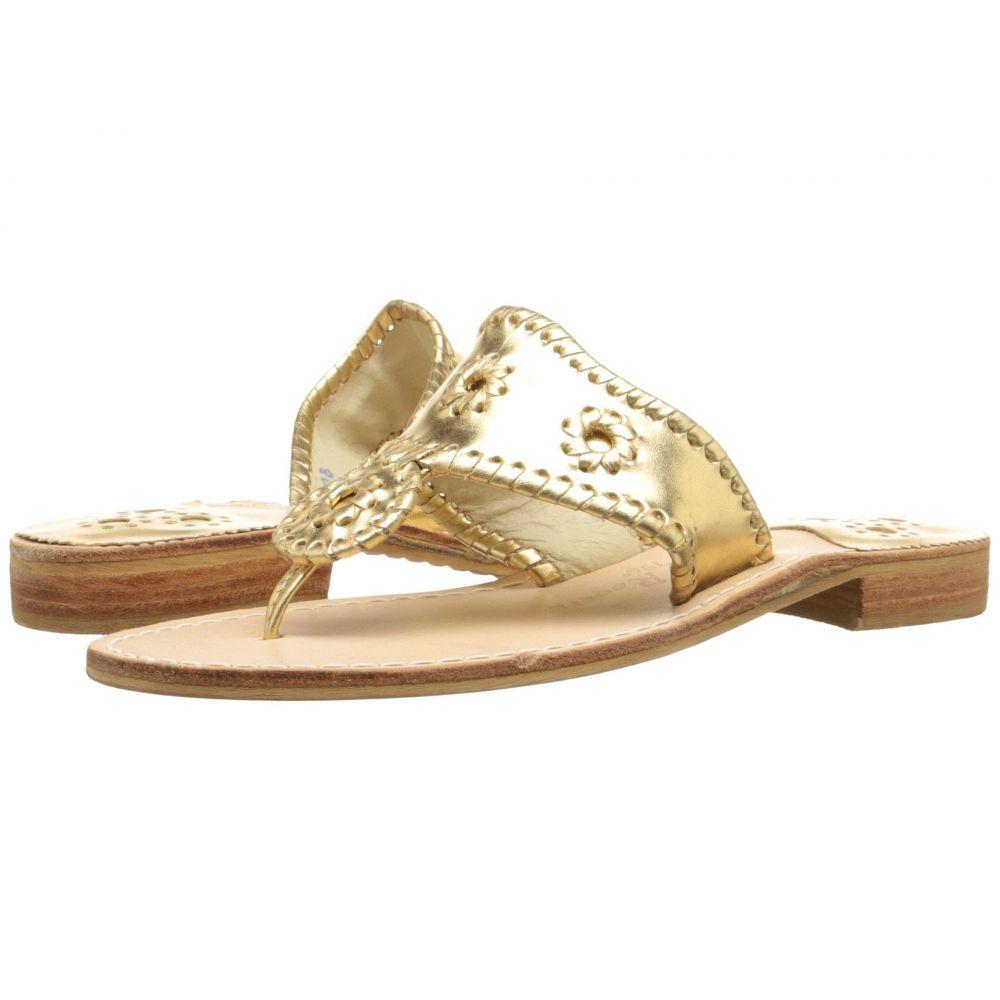 ジャックロジャース Jack Rogers レディース ビーチサンダル フラット シューズ・靴【Jacks Flat Sandal】Gold