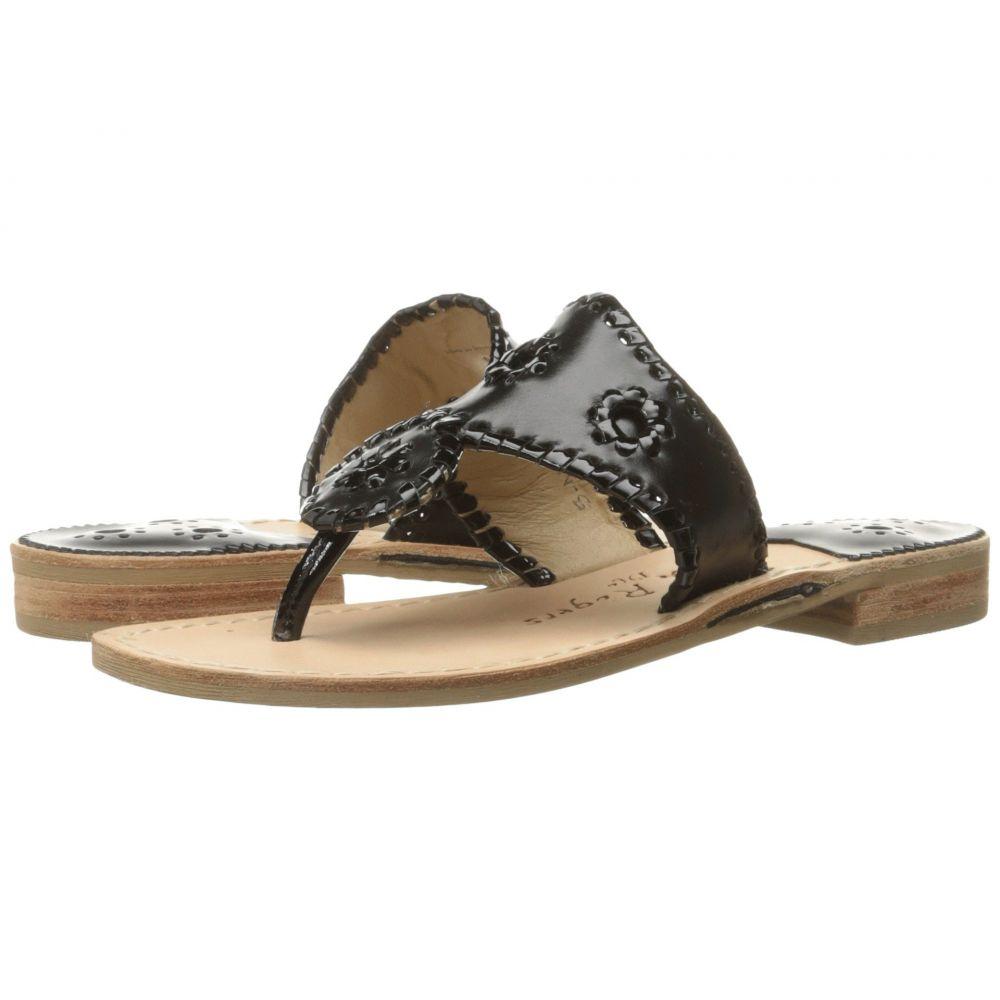 ジャックロジャース Jack Rogers レディース ビーチサンダル フラット シューズ・靴【Jacks Flat Sandal】Black/Black Patent