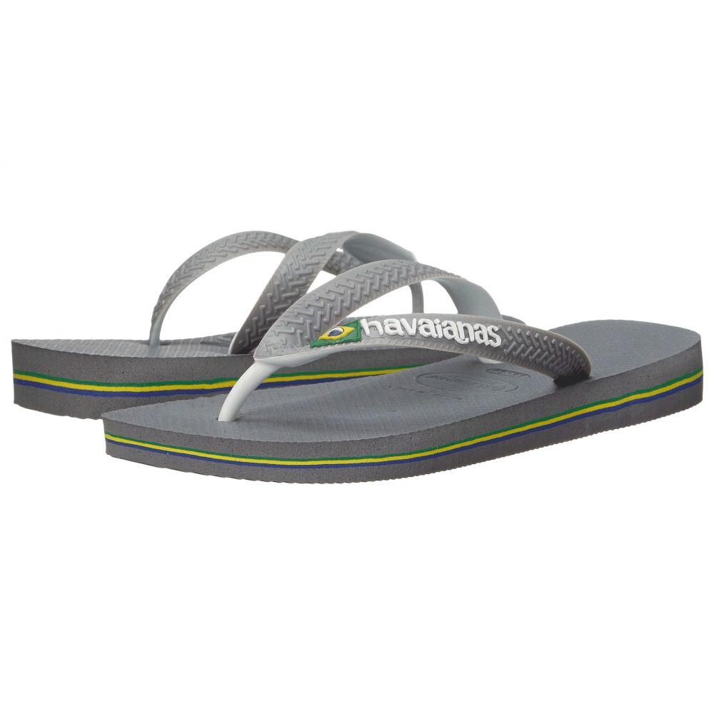 ハワイアナス Havaianas レディース ビーチサンダル シューズ・靴【Brazil Mix Flip Flops】Steel Grey/White/White
