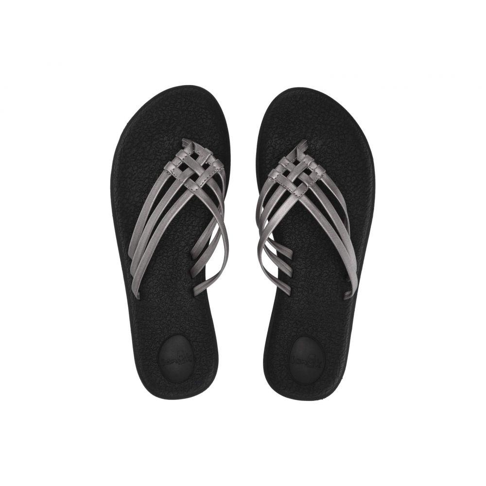 サヌーク Sanuk レディース ビーチサンダル シューズ・靴【Yoga Salty Metallic】Pewter