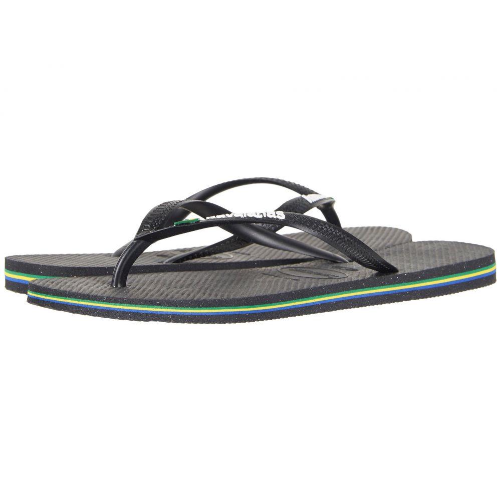 ハワイアナス Havaianas レディース ビーチサンダル シューズ・靴【Slim Brazil Flip-Flops】Black