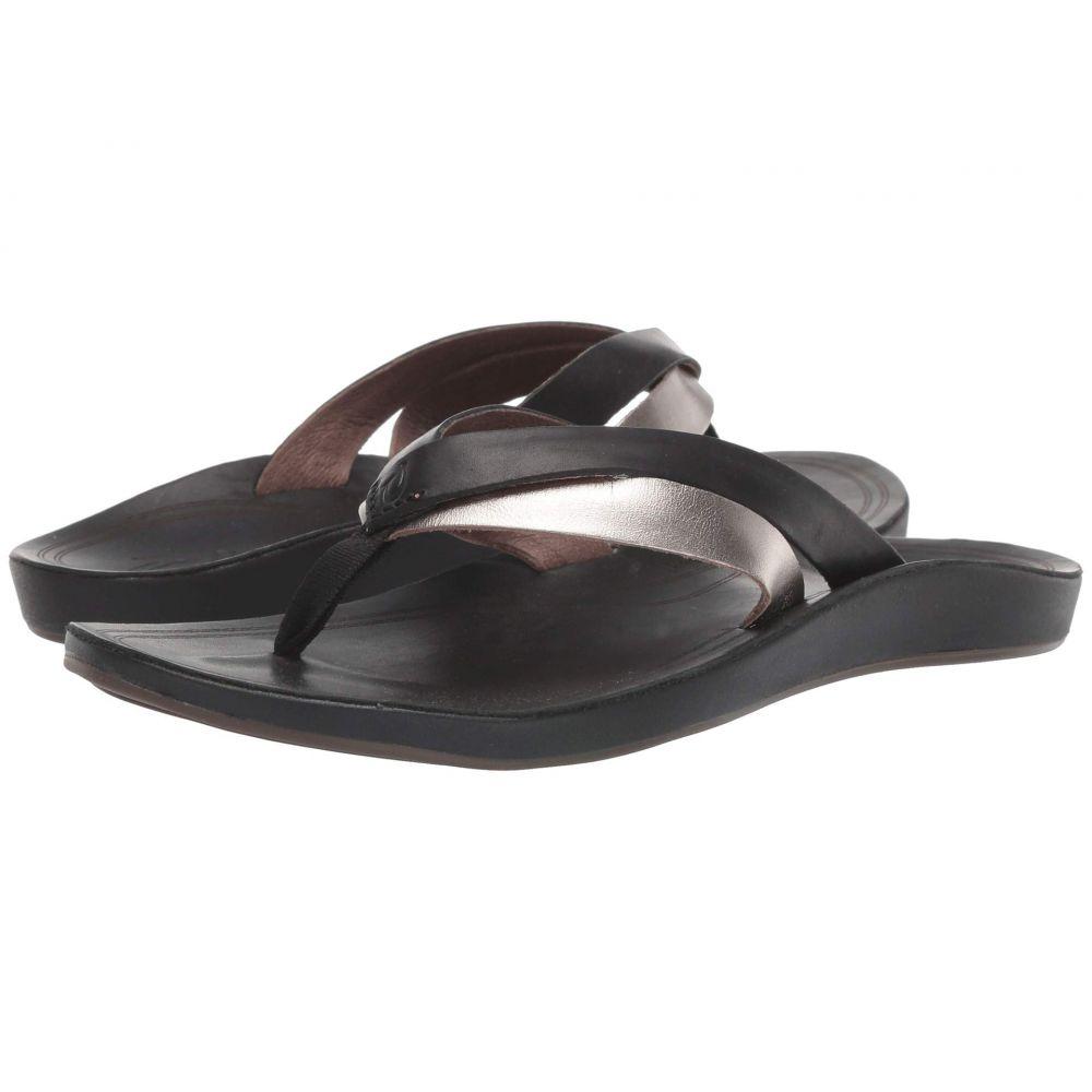 オルカイ OluKai レディース ビーチサンダル シューズ・靴【Kaekae】Black/Silver