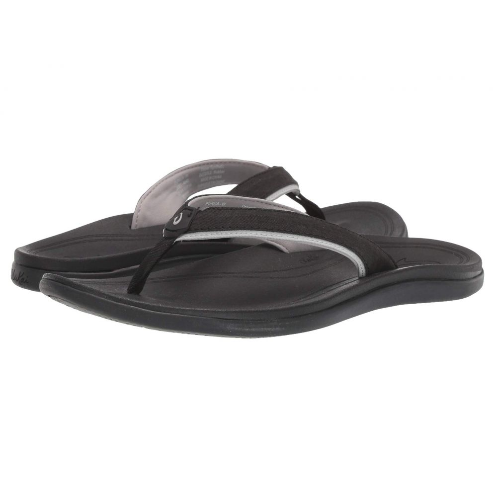 オルカイ OluKai レディース ビーチサンダル シューズ・靴【Punua】Black/Black