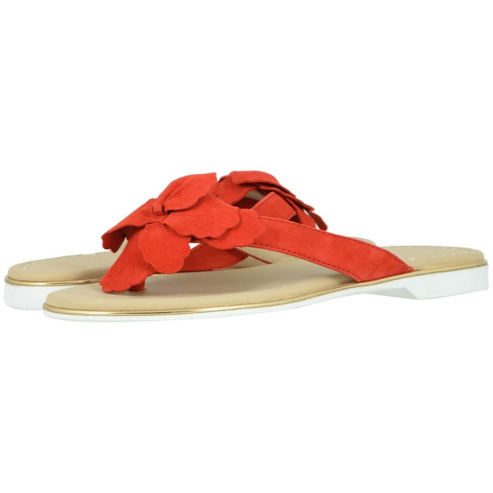 ジョンストン&マーフィー Johnston & Murphy レディース ビーチサンダル シューズ・靴【Reanne】Red Italian Suede