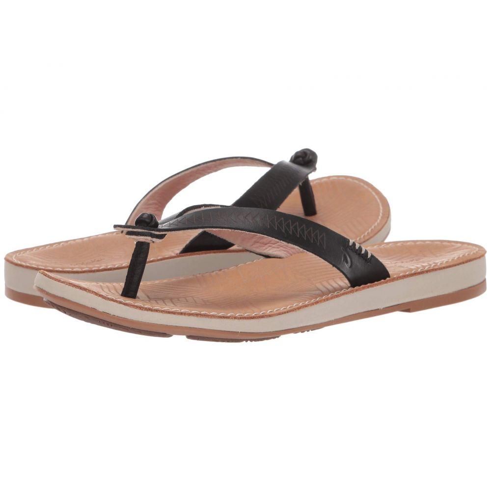 オルカイ OluKai レディース ビーチサンダル シューズ・靴【Hawaiiloa Kia hope】Black/Golden Sand
