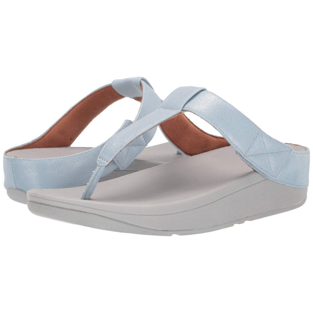 フィットフロップ FitFlop レディース ビーチサンダル シューズ・靴【Mina Toe-Thong】Light Blue Shimmer Denim