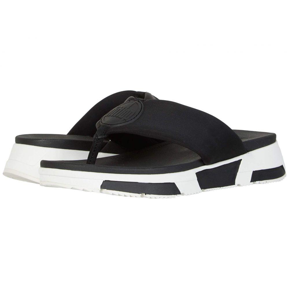 フィットフロップ FitFlop レディース ビーチサンダル シューズ・靴【Sporty Logo Toe-Thong】Black