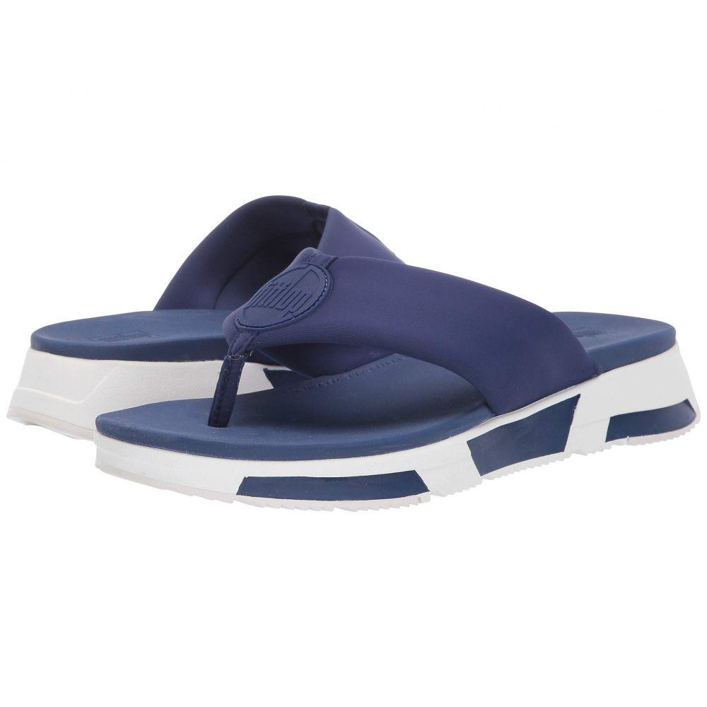 フィットフロップ FitFlop レディース ビーチサンダル シューズ・靴【Sporty Logo Toe-Thong】Midnight Navy