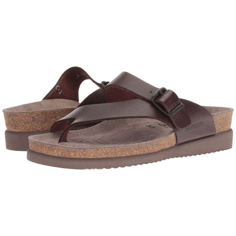メフィスト Mephisto レディース サンダル・ミュール シューズ・靴【Helen】Dark Brown Waxy Leather
