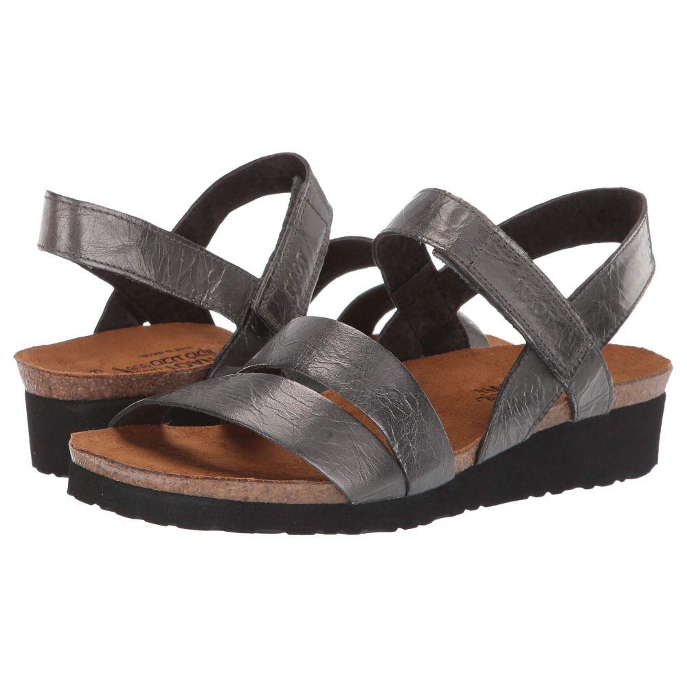 ナオト Naot レディース サンダル・ミュール シューズ・靴【Kayla】Crinkle Steel Leather