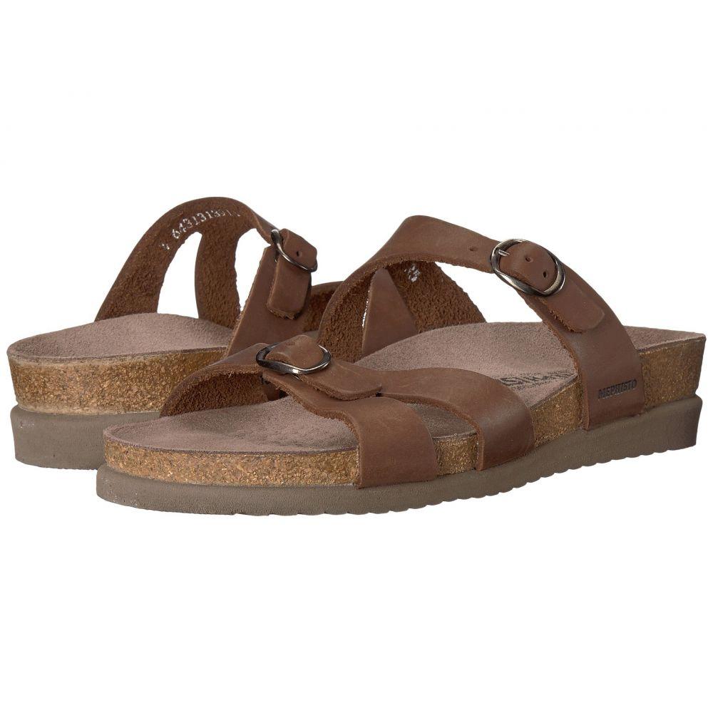 メフィスト Mephisto レディース サンダル・ミュール シューズ・靴【Hannel】Dark Brown Scratch Leather