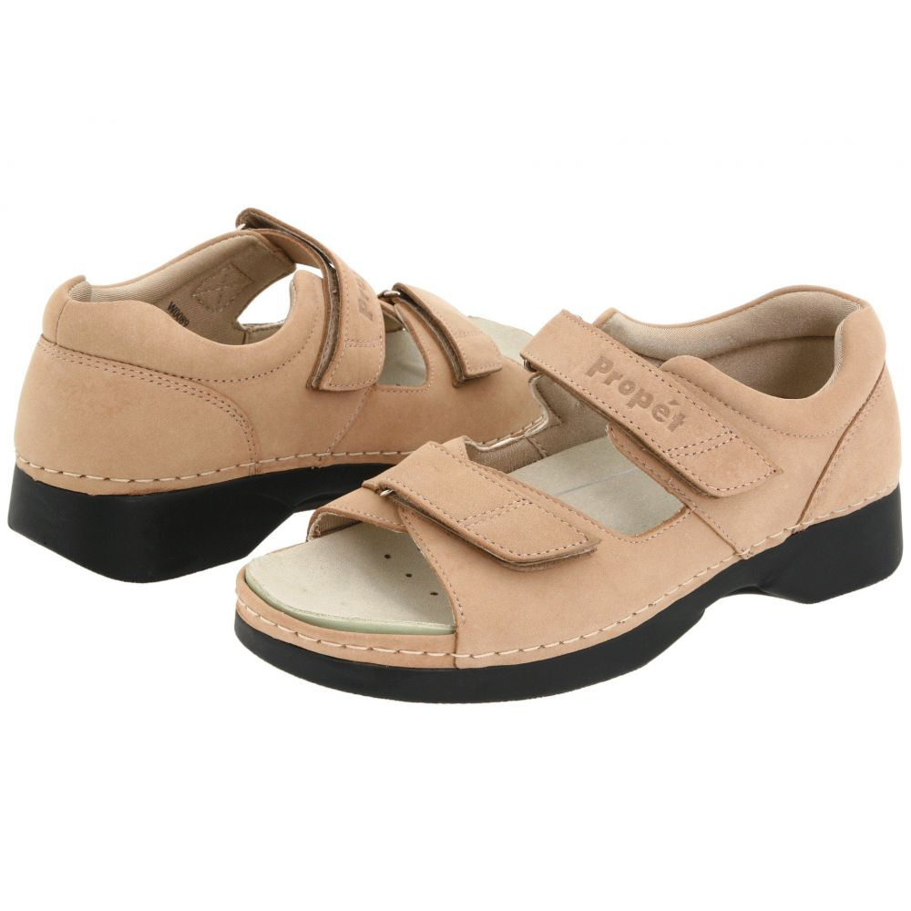 プロペット Propet レディース サンダル・ミュール シューズ・靴【Pedic Walker】Dusty Taupe Nubuck