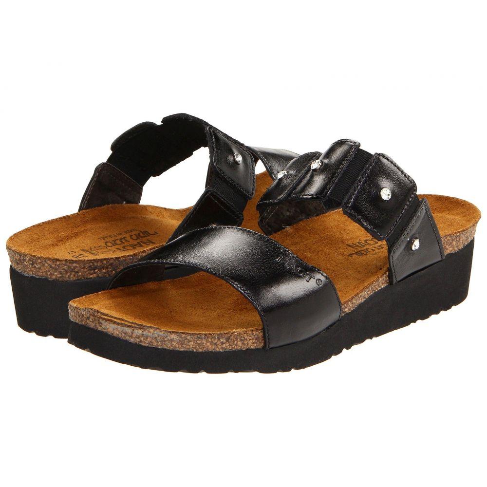 ナオト Naot レディース サンダル・ミュール シューズ・靴【Ashley】Black Madras Leather