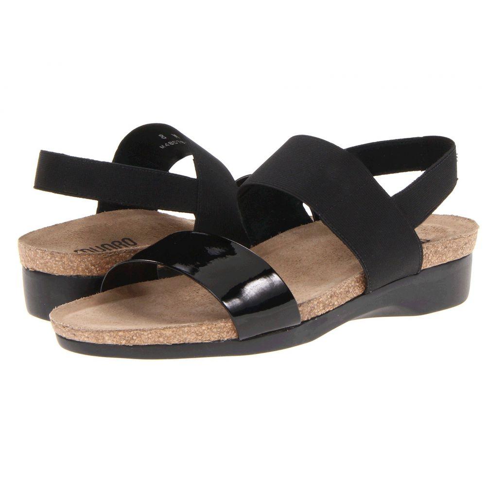 マンロー Munro レディース サンダル・ミュール シューズ・靴【Pisces】Black Patent/Black Fabric