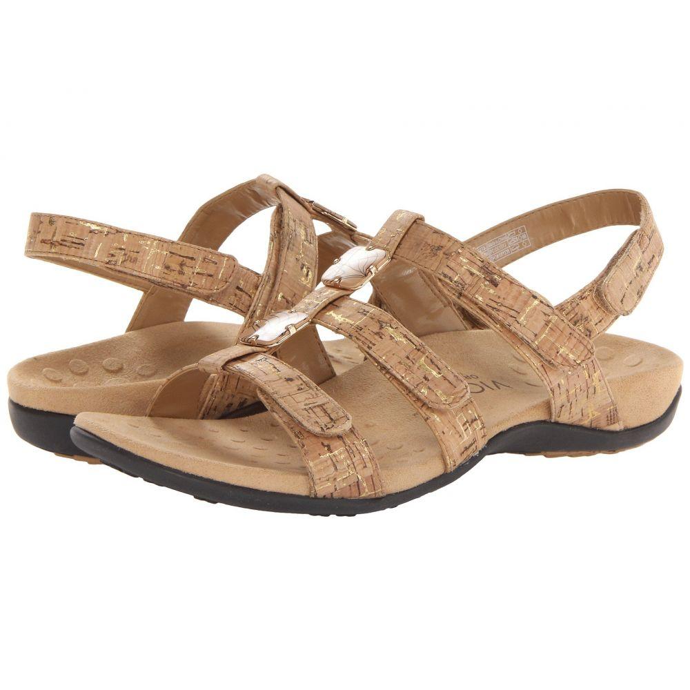 バイオニック VIONIC レディース サンダル・ミュール シューズ・靴【Amber】Gold Cork