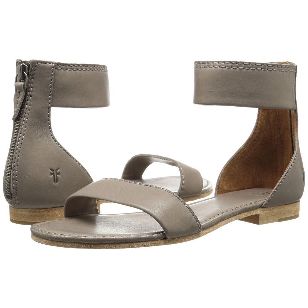 フライ Frye レディース サンダル・ミュール シューズ・靴【Carson Ankle Zip】Grey Soft Nappa Lamb