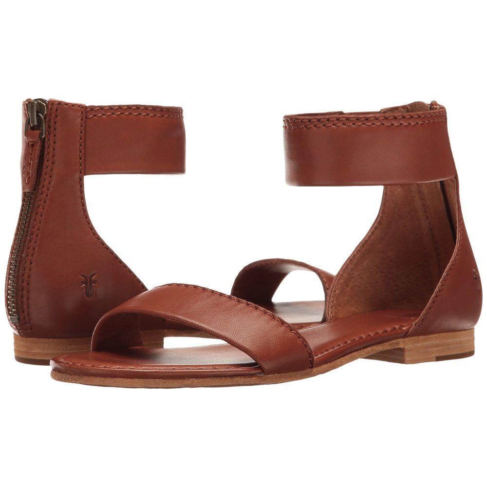 フライ Frye レディース サンダル・ミュール シューズ・靴【Carson Ankle Zip】Cognac Soft Nappa Lamb