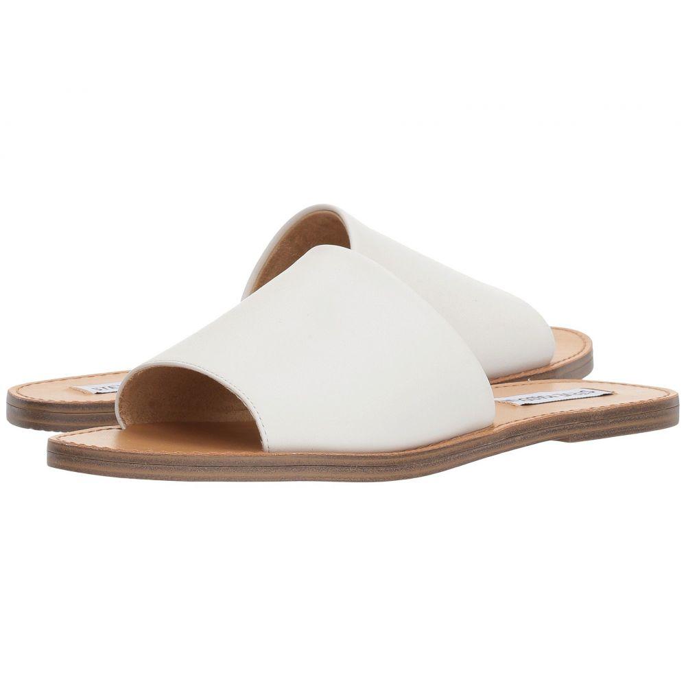 スティーブ マデン Steve Madden レディース サンダル・ミュール スライドサンダル シューズ・靴【Grace Slide Sandal】White Leather