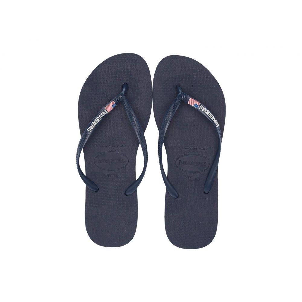 ハワイアナス Havaianas レディース ビーチサンダル シューズ・靴【Slim USA Sandal】Navy Blue
