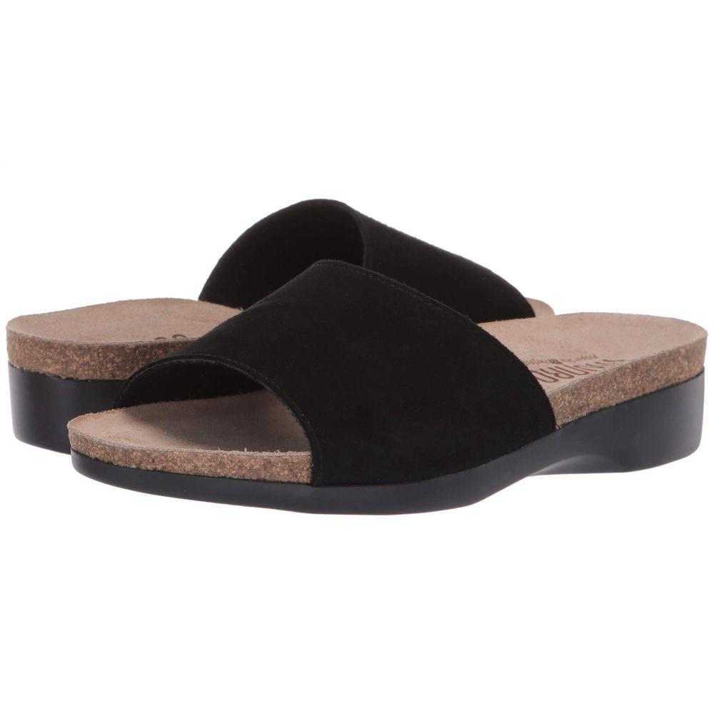 マンロー Munro レディース サンダル・ミュール シューズ・靴【Laya】Black Suede