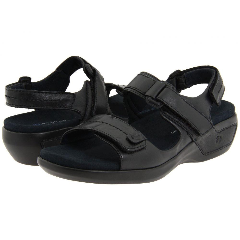 アラヴォン Aravon レディース サンダル・ミュール シューズ・靴【Katy】Black Leather