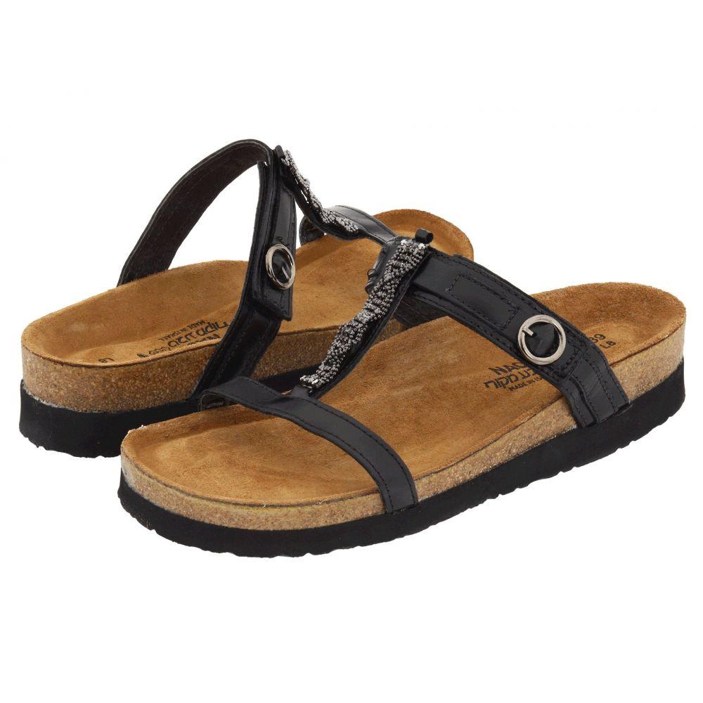 ナオト Naot レディース サンダル・ミュール シューズ・靴【Malibu】Black Madras Leather