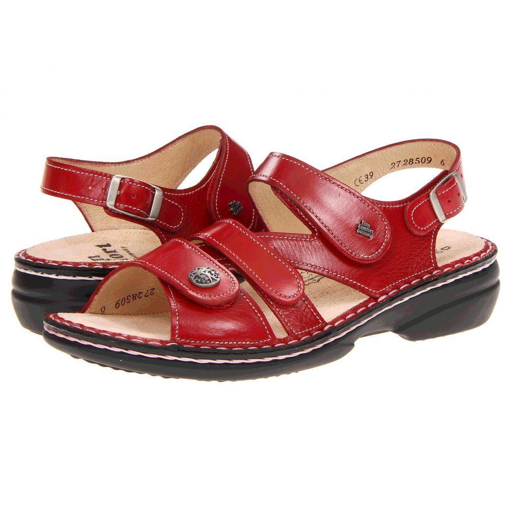 フィンコンフォート Finn Comfort レディース サンダル・ミュール シューズ・靴【Gomera - 82562】Red