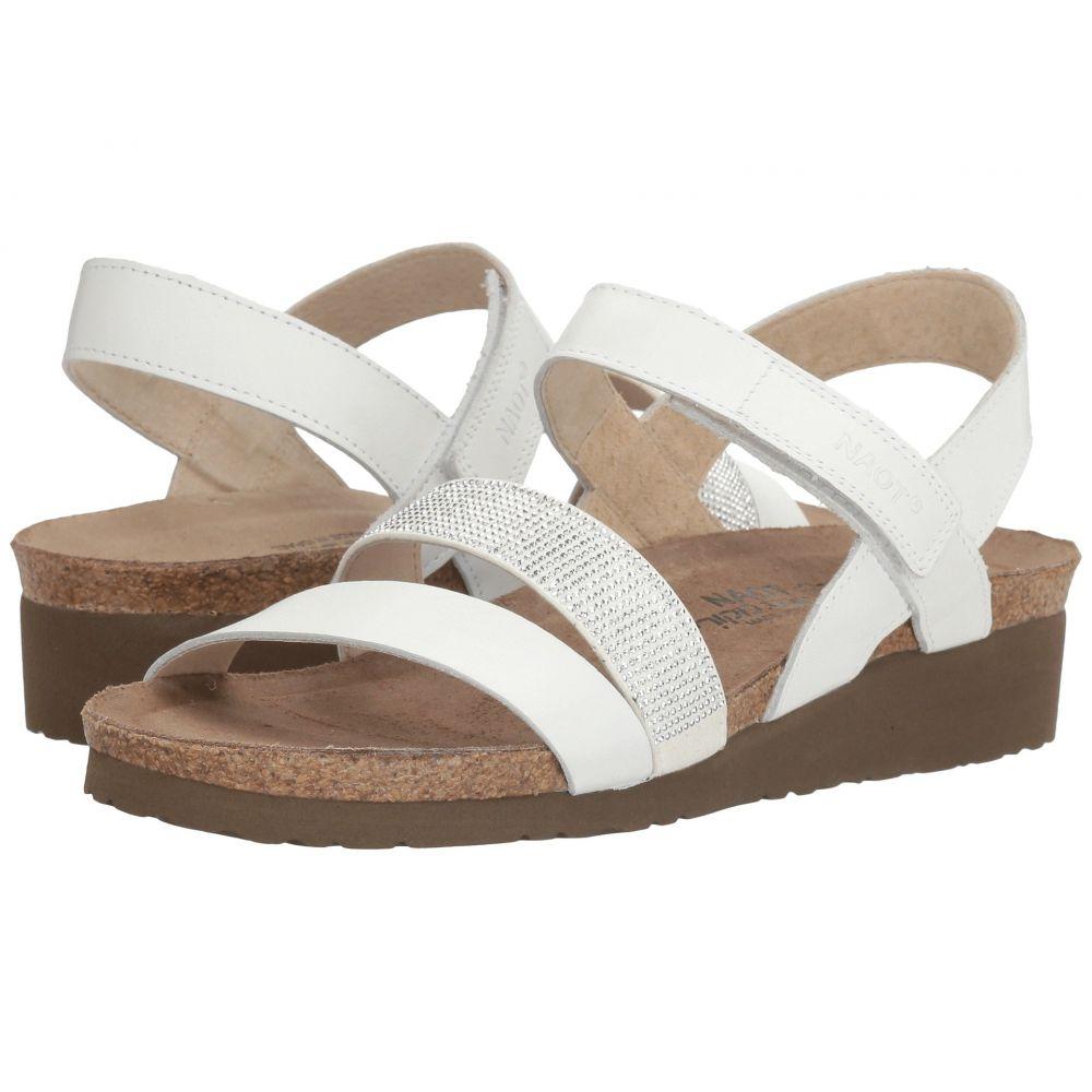 ナオト Naot レディース サンダル・ミュール シューズ・靴【Krista】White Leather/Silver Rivets