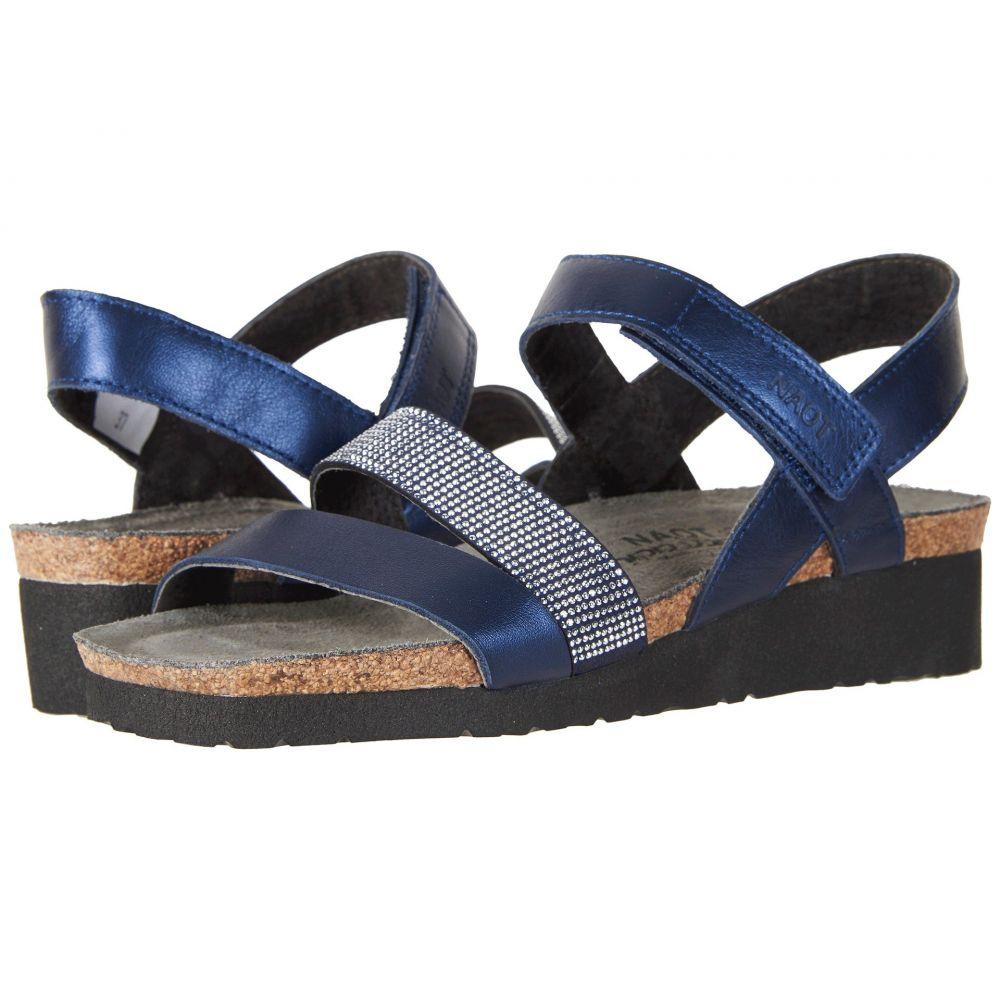 ナオト Naot レディース サンダル・ミュール シューズ・靴【Krista】Polar Sea Leather/Nickel Rivets