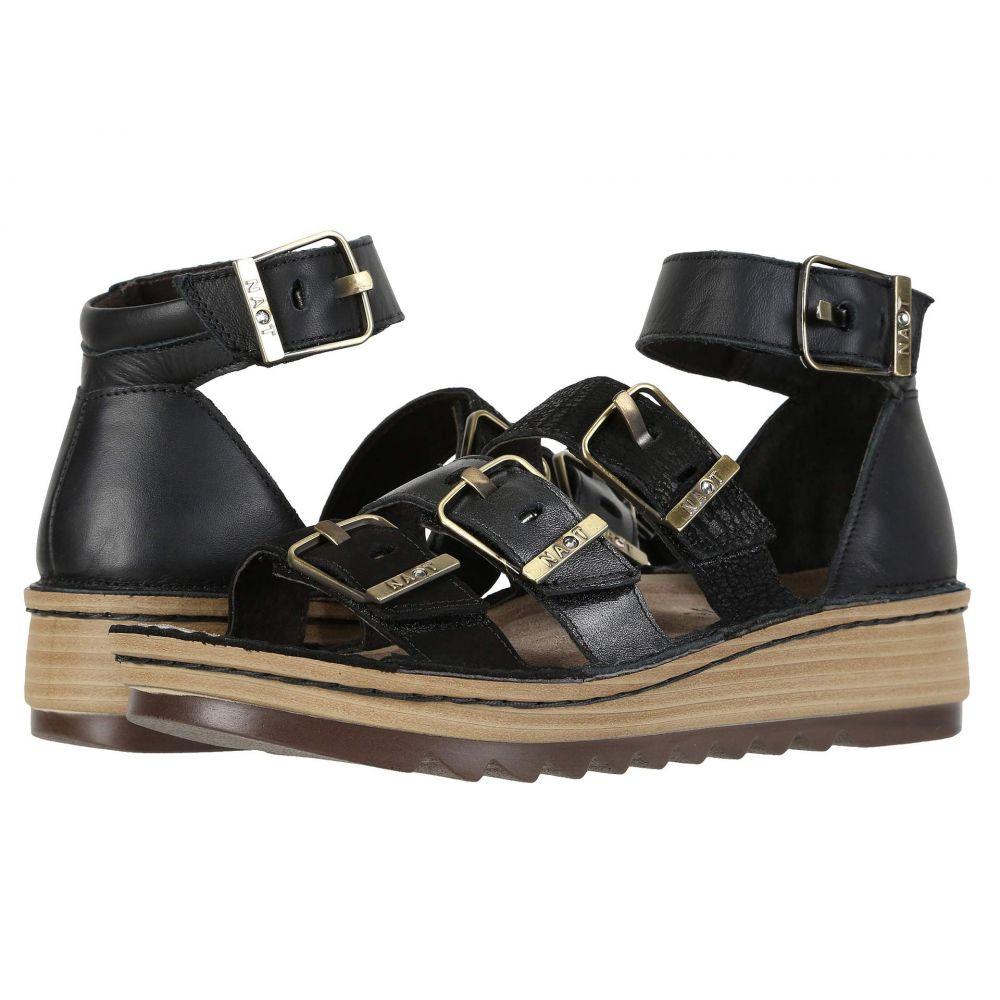 ナオト Naot レディース サンダル・ミュール シューズ・靴【Begonia】Black Velvet Nubuck/Metallic Road Leather/Black Leather Combo