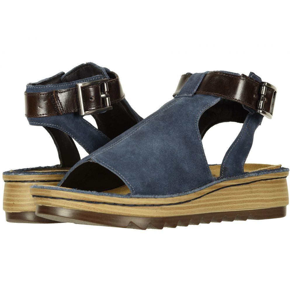 ナオト Naot レディース サンダル・ミュール シューズ・靴【Verbena】Midnight Blue Suede/Walnut Leather