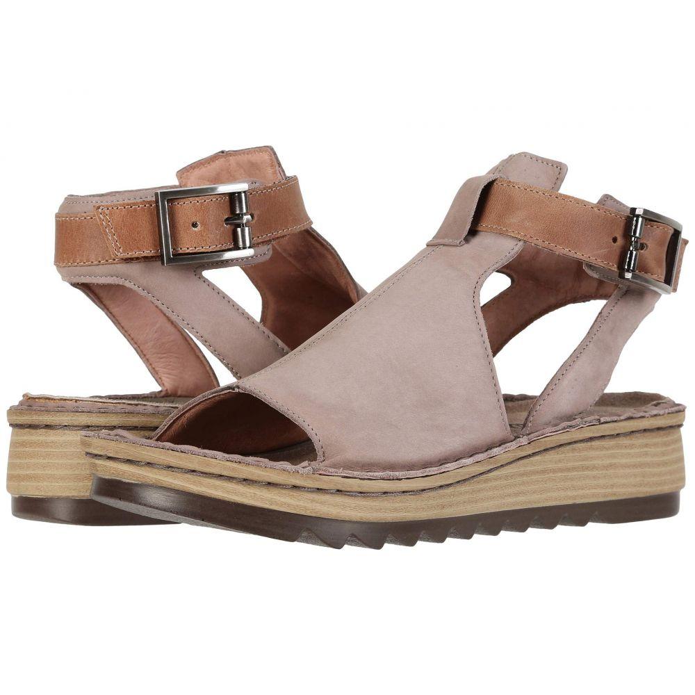 ナオト Naot レディース サンダル・ミュール シューズ・靴【Verbena】Stone Nubuck/Latte Brown Leather